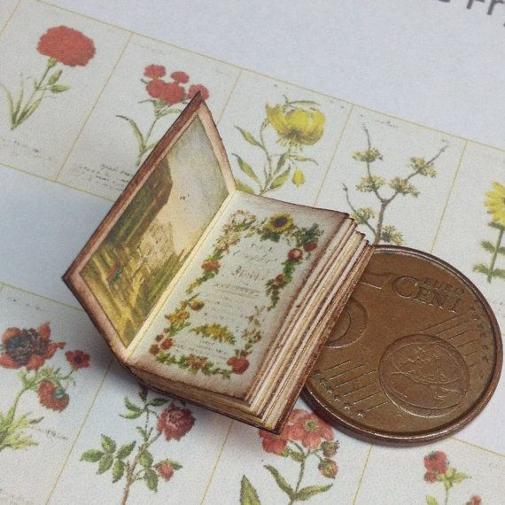 1:12 Miniature florist book by WeLoveMiniatures on Etsy