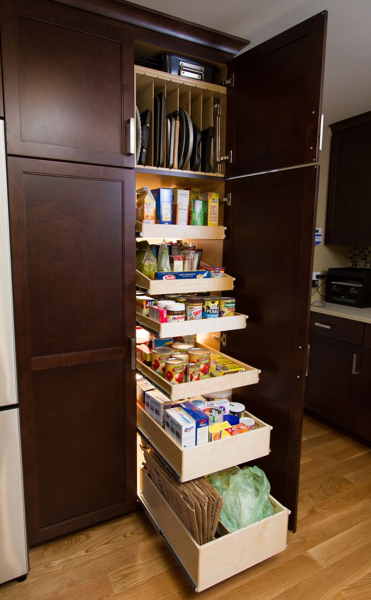 17 best ideas about slide out shelves on pinterest under for Kitchen closet