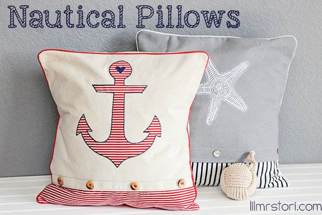 How to Make Your Own Anchor & Starfish Pillows