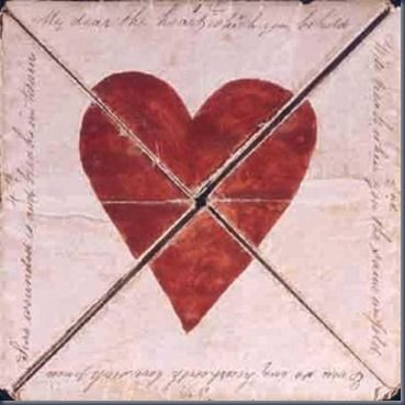 Oldest mailed Valentine's card from 1790.