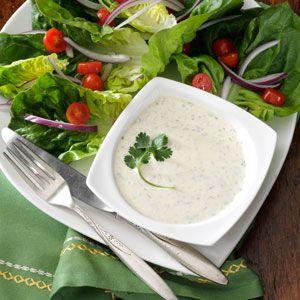 Cilantro Salad Dressing Recipe from Taste of Home