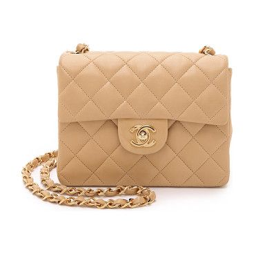 WHAT GOES AROUND COMES AROUND Heritage chanel mini flap bag found on Nudevotion