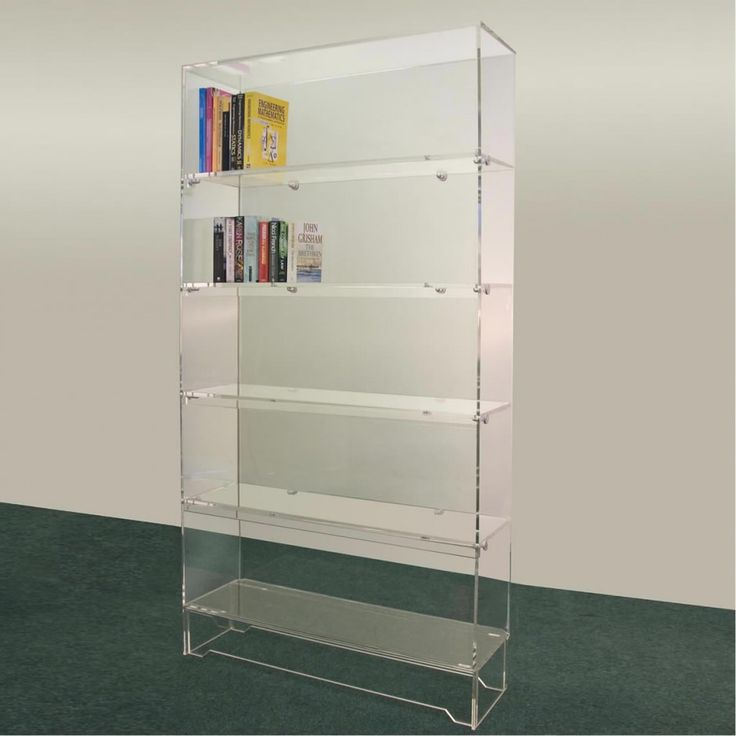 furniture acrylic bookshelf for acrylic bookcase ideas cool acrylic bookcase design ideas bdrm. Black Bedroom Furniture Sets. Home Design Ideas