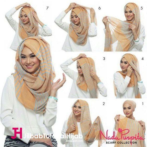 Kumpulan Gambar Tutorial Cara Memakai Hijab model terbaru