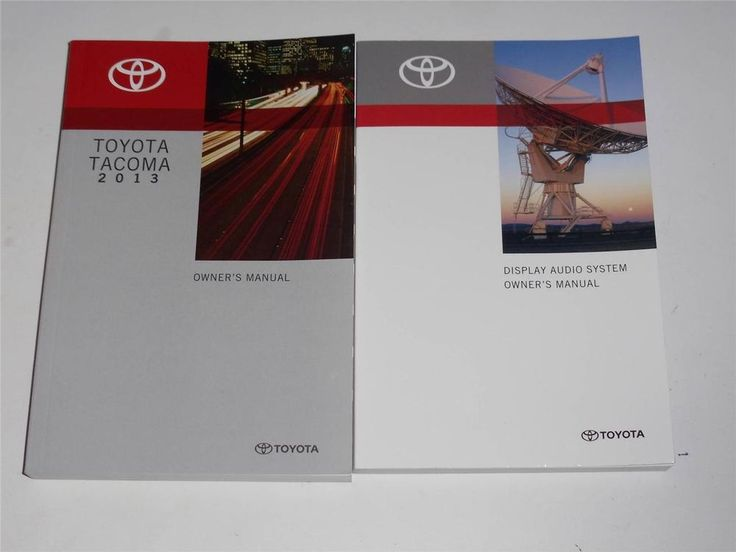 2013 Toyota Tacoma Owners Manual Book And Display Audio System Manual