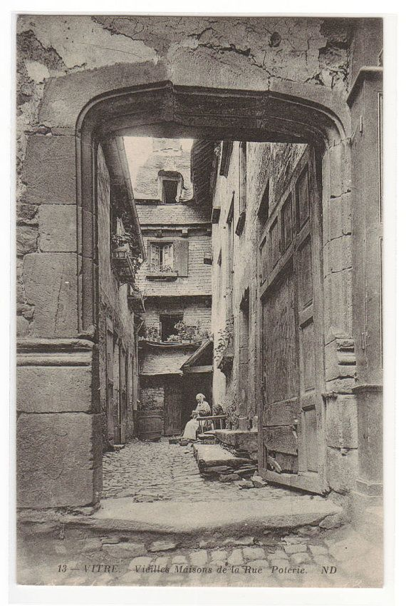 Rue Poterie Vieux Maisons Vitre France 1910s by ThePostcardDepot, $5.00
