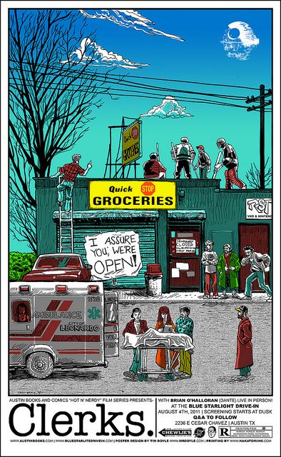 Clerks movie poster by Tim Doyle - Alamo Drafthouse - Gallery