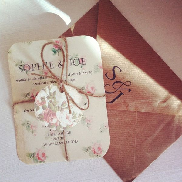 vintage wedding invitations-2014 wedding invitation trends