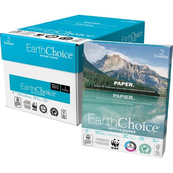 """Domtar EarthChoice® FSC-Certified Copy Paper, 20 lb., 8-1/2"""" x 11""""