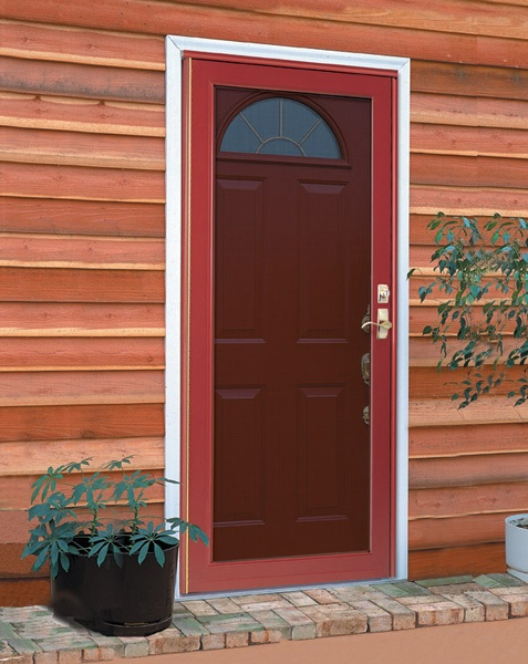 Wood Screen Doors With Removable Screens : Duraguard storm doors by provia feature tough non