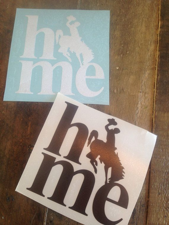 Home decal wyoming home wyoming sticker bucking for Home designs com