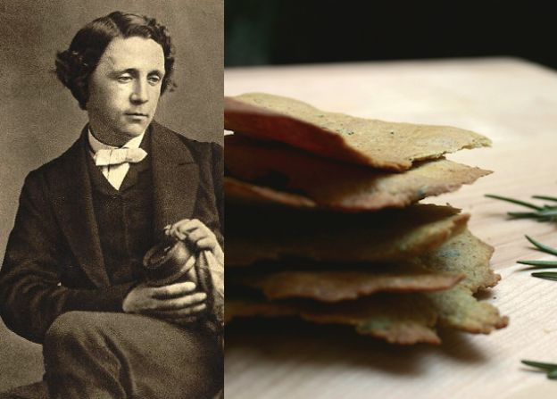 Lewis Carroll - Rosemary Olive Oil Sea Salt Crackers//paper and salt