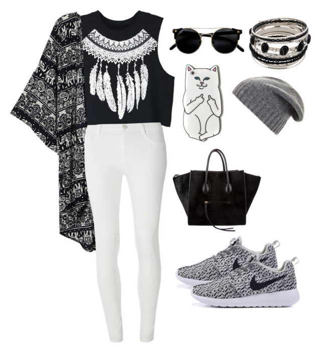 black and white daily by iinwahyuj on Polyvore featuring polyvore, fashion, style, WithChic, Dorothy Perkins, CÉLINE, BCBGMAXAZRIA and clothing