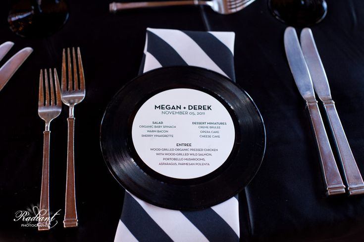 Such A Cool Idea Record Place Settings