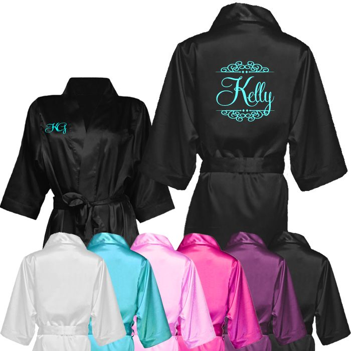 Personalised Satin Robe with Name