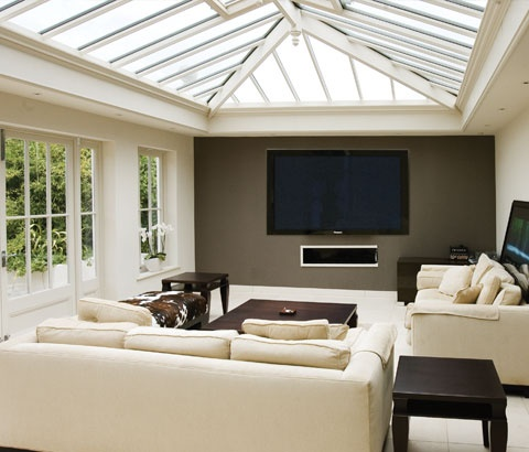 A beautiful contemporary conservatory interior