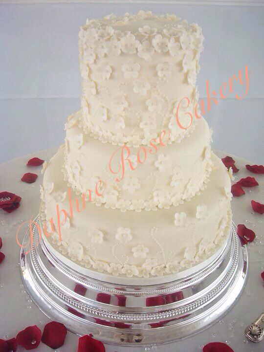 #blossom #tiered #ivory #weddingcake  email drcakery@gmail.com based in Dartford, Kent, UK