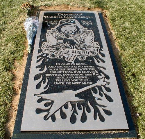 Grave Marker- Dimebag Darrell Abbott - lead guitarist for Pantera