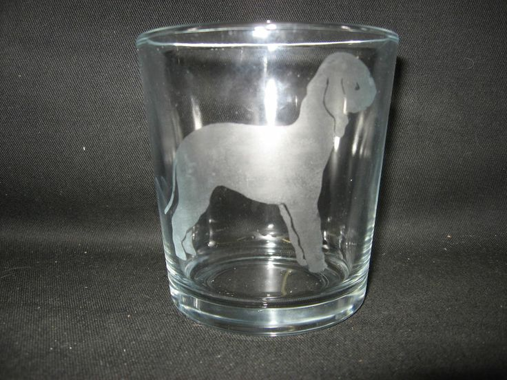 NEW ETCHED BEDLINGTON TERRIER GLASS