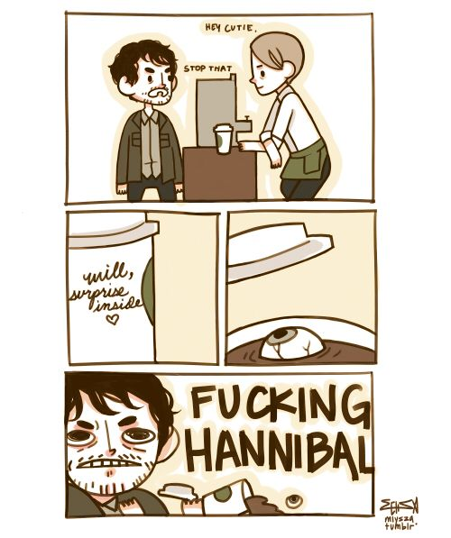 art comics hannibal hannibal lecter will graham nbc hannibal i am officially really into the show
