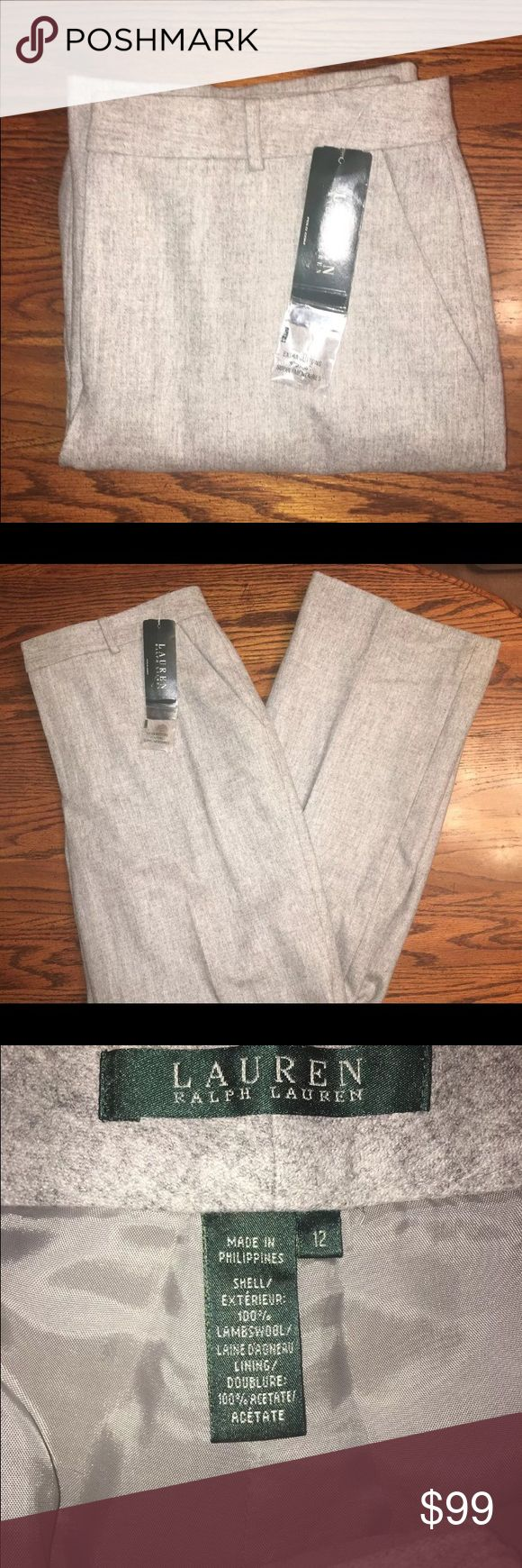 Lauren Ralph Lauren women's pants size 12 You are looking at a brand new with tags attached pair off Lauren Ralph Lauren women's pants in size 12, color grey. Lauren Ralph Lauren Pants Trousers