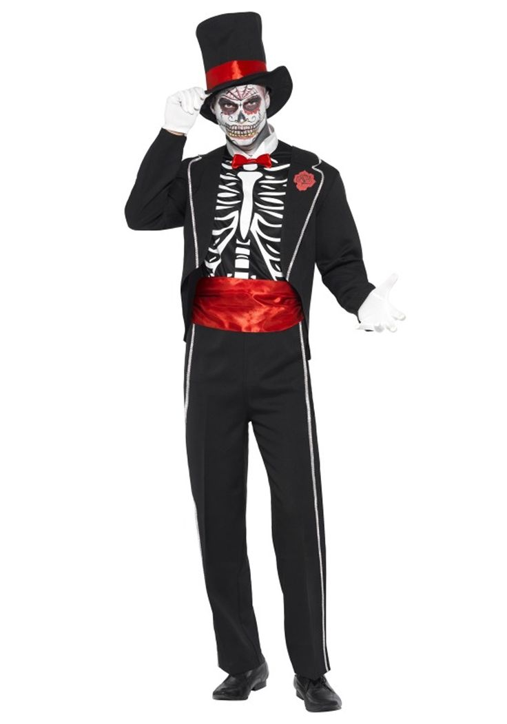 mens day of the dead costume - Halloween Tumblr Cursors