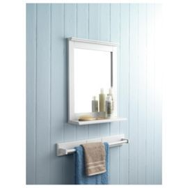 buy southwold bathroom mirror with shelf white wood tongue u0026 groove from our bathroom shelves