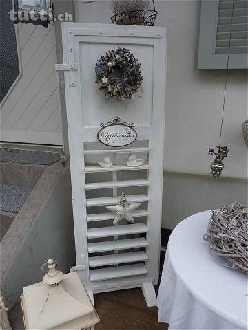die besten 17 bilder zu fensterladen auf pinterest shabby chic deko shabby chic und shabby. Black Bedroom Furniture Sets. Home Design Ideas