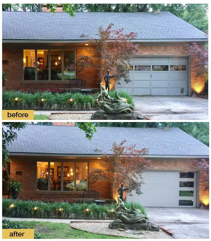 Modern Garage Doors In An Astonishing Protection: 165 Best Before And After Exterior Makeovers Images On