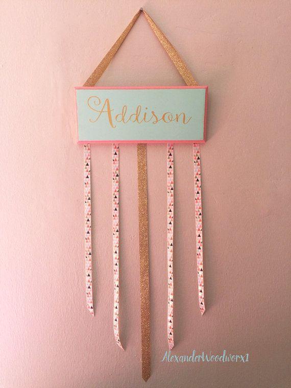 Hair bow holder - Hairbow holder - Girls bow holder - Bow storage - Bow Organization - Cheer Bow Holder - Hair bow Hanger - Girls Gifts