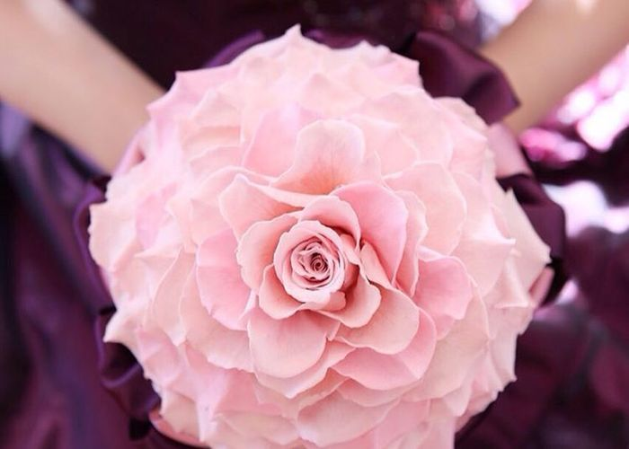 1輪だけど、とびっきり大きいお花♡注目度うなぎのぼりの『メリアブーケ』って知ってますか?のトップ画像