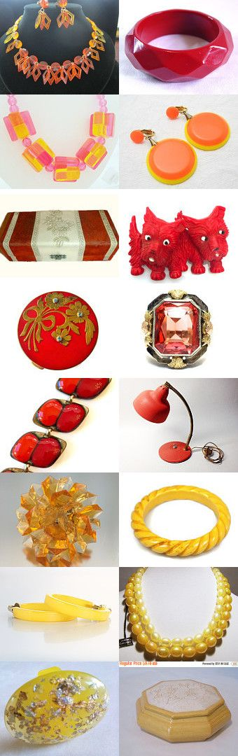 Red, Orange Yellow by Cherie on Etsy--Pinned+with+TreasuryPin.com