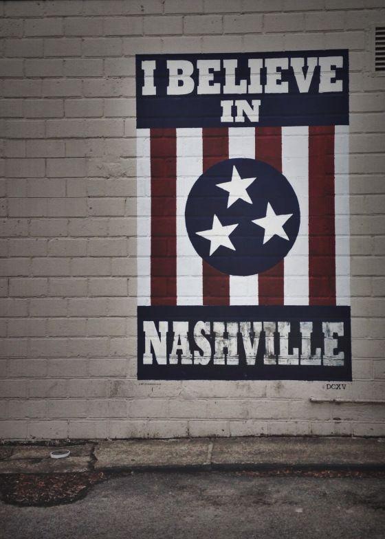 I Believe in Nashville Mural by DCXV - 12 South in Nashville