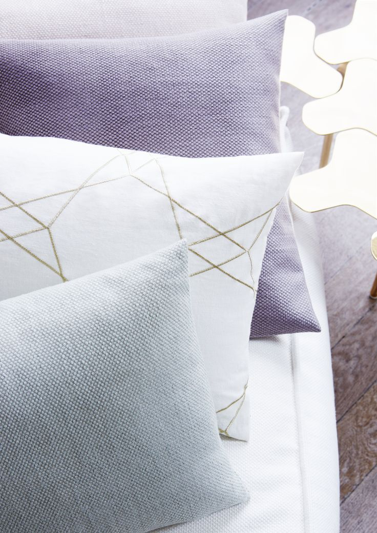 """Création Baumann presents the """"Linen & Friends"""" Collection  """"The new collection is designed to be light and subtle in appearance, earthy and powdery in colouring and severe and soft in the combination of materials"""", says Sibylle Aeberhard, the designer.:   Linen Collection #linen #design #pale #collection #Créationbaumann"""