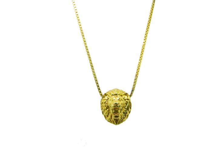 LEONE DI VETTORI 18K yellow gold lion necklace.