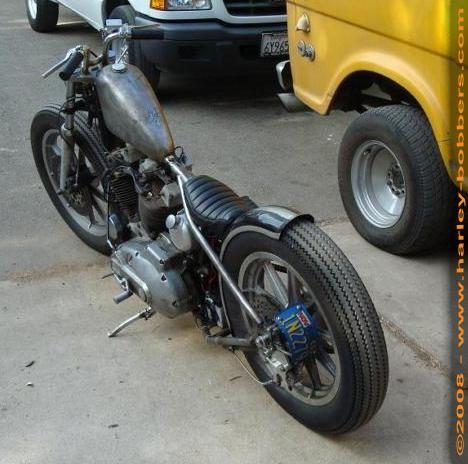 1977 Harley Ironhead Lane Splitter Bobber