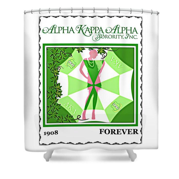 Alpha Kappa Alpha Shower Curtain