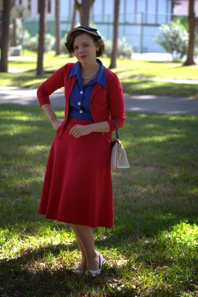 Classic Red and Blue   The Girl with the Star-Spangled Heart: Classic Red and Blue featuring the Wearing History Ruthie Blouse