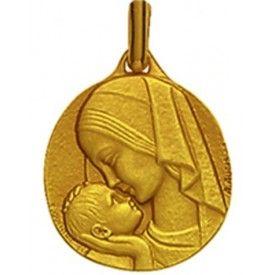 La medaille de bapteme de la vierge à l'enfant Amour Maternel en or est un très beau cadeau de bapteme. Expéditition rapide.