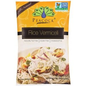 Noodles de Arroz Vermicelli  Peacock 200g sin gluten, gluten free