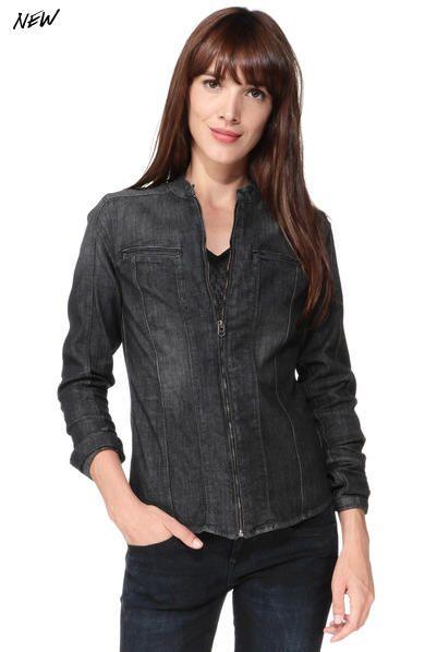 Chemise denim zippée Lynn Noir G-star prix Chemise Femme Monshowroom 129.00 €