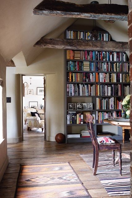 Discover bookshelf ideas on HOUSE - design, food and travel by House & Garden - including this library Robin Muir's South Downs house