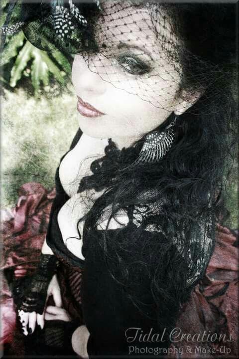 Model Jocelyn lothian Photographer tidal creations #victorian #gothic #veil #corset #reddress #victoriangothic #goth