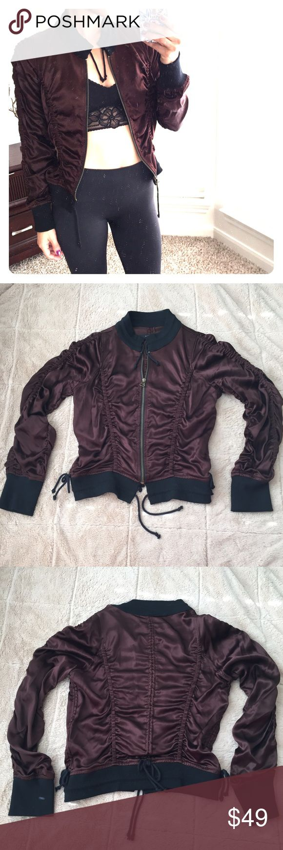 Brown bomber jacket Excellent condition! 51% Rayon 49% Acetate chocolate brown bomber. billy blues Jackets & Coats Utility Jackets