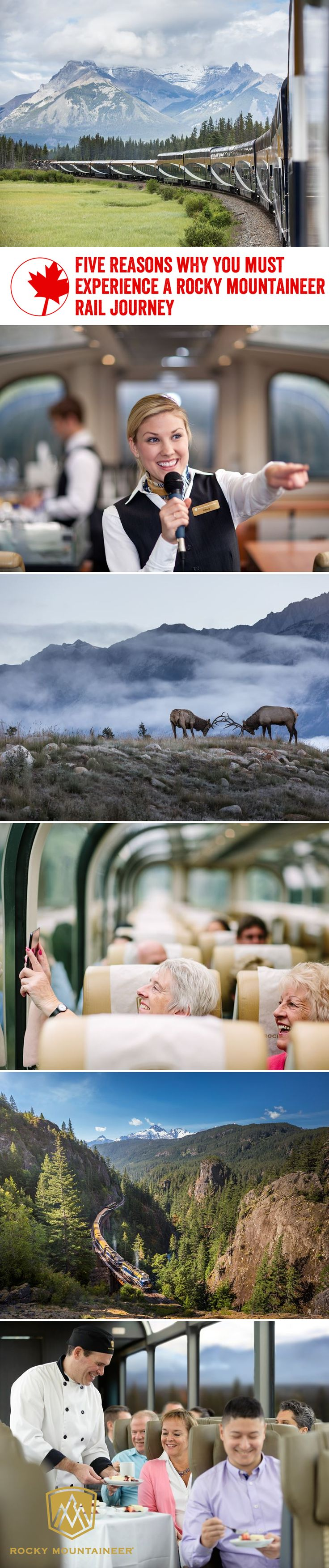 Spectacular views of Western Canada's natural beauty, gourmet cuisine, exceedingly friendly train hosts…there are so many reasons you'll love a journey on the Rocky Mountaineer.