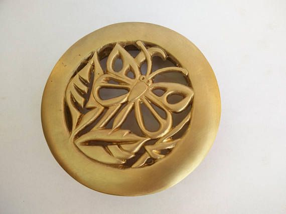 Handmade round Brass Butterfly decorative shower drain Home