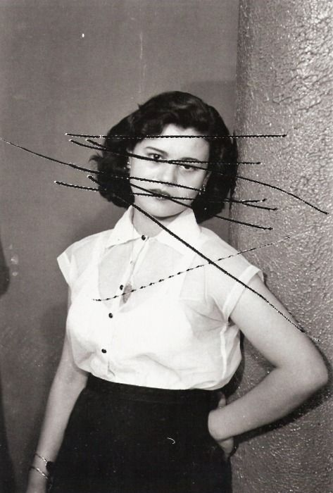 Anonymous, 1957 (Hashem El Madani)  These are negatives that were scratched because of a jealous husband..