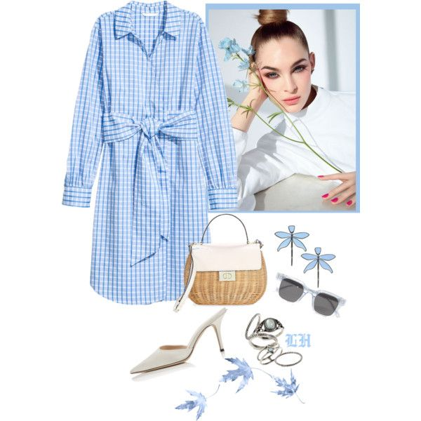 Blue Check! by lheijl on Polyvore featuring Kate Spade, Topshop, Tory Burch and Chimi