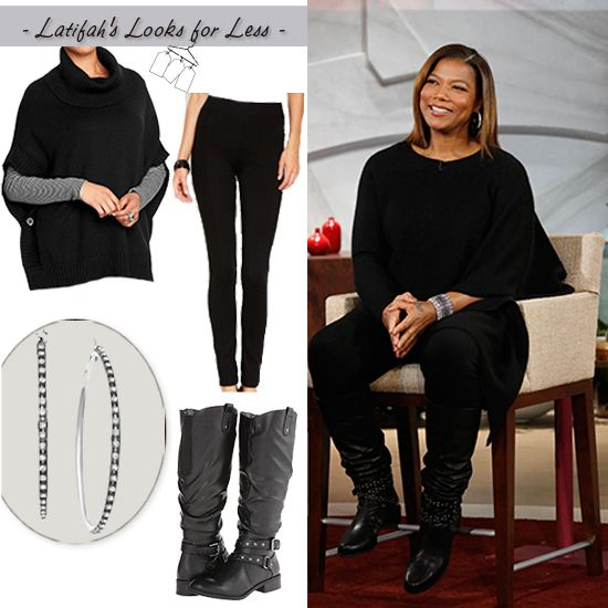 Sweater time! | Queen Latifah's look for Less: Wednesday, November 11, 2014