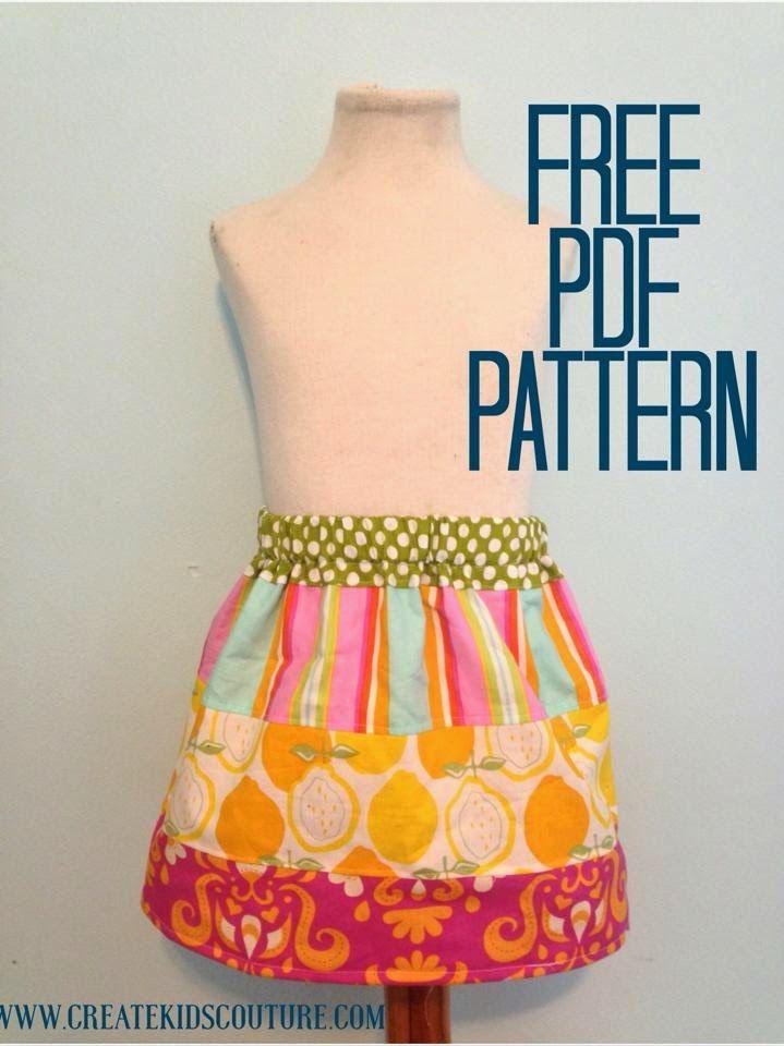 Create Kids Couture: Sarah Beth's Stripwork Skirt